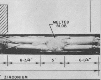 Sodium-Reactor-Experiment-partially-melted-fuel-rod-blob
