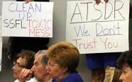 Protests at ATSDR community meeting September 8