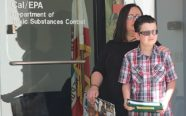 Maggie Compton and son Ryan, a leukemia survivor, deliver petition to DTSC demanding it keep SSFL cleanup promises